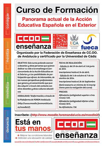 Federaci n de ense anza de comisiones obreras de andaluc a for Ccoo ensenanza exterior