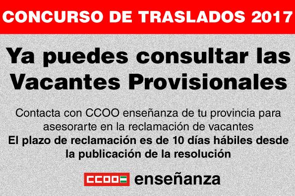 Federaci n de ense anza de comisiones obreras de andaluc a for Ccoo concurso de traslados