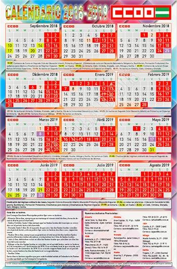 Calendario Escolar 2020 Andalucia.Federacion De Ensenanza De Comisiones Obreras De Andalucia
