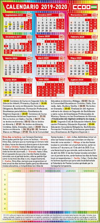 Calendario Ugr 2020.Federacion De Ensenanza De Comisiones Obreras De Andalucia