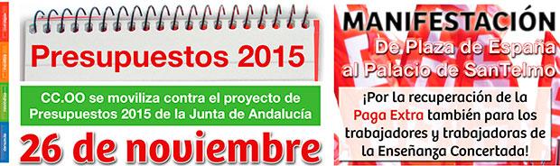 manifestación contra los presupuestos JA 2015